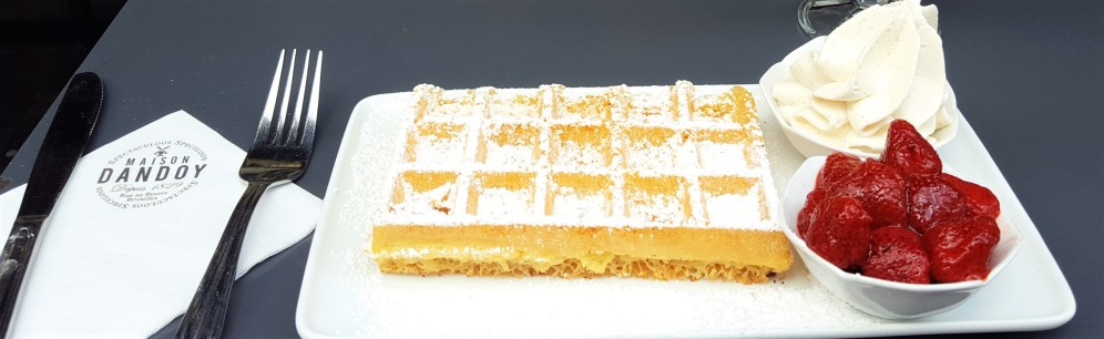 Belgian Waffle from Maison Dandoy in Brussels, Belgium