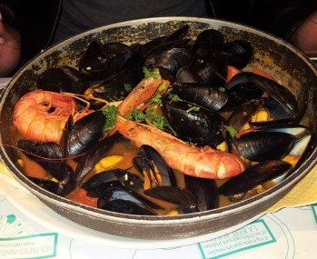 Shrimp and Mussels from Leon de Bruxelles Mussels in Paris, France