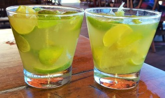 Traditional Brazilian caipirinha