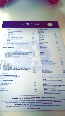 Pancakes Menu in Dutch