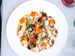 Octopus Carpaccio at La Guarida