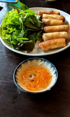 Spring Rolls at Quan Restaurant in Saigon