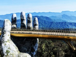 Cau Vang aka Golden Bridge at Sun World in Ba Na Hills, Da Nang