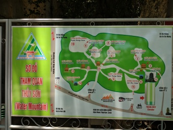 Map of Marble Mountains in Da Nang